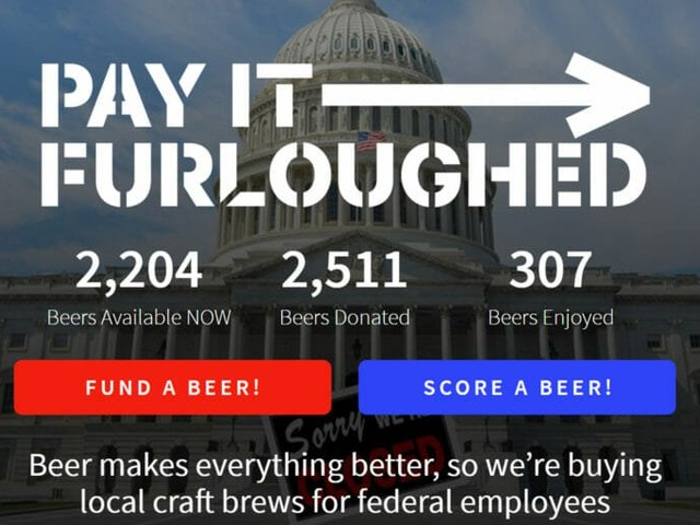 Buy beer for a furloughed government worker with this new website