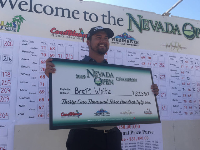 Houston's Brett White wins Nevada Open after major illness
