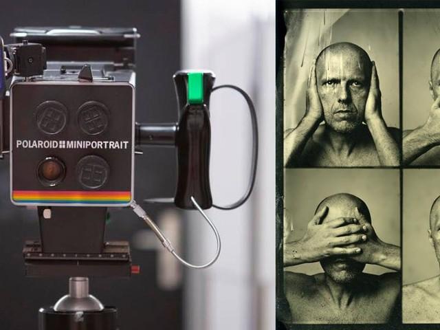 Wet Plate Collodion Passport Photos with a Polaroid Miniportrait Camera