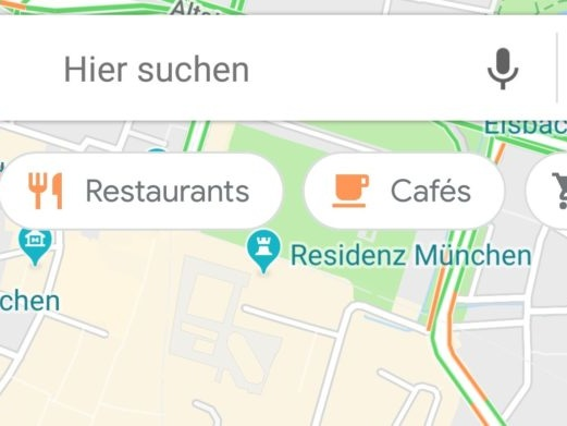 [Update: Resurrected with new look] Google Maps is testing a floating scrolling bar of category searches