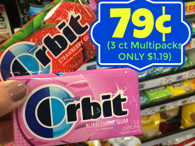 Great Deals on Orbit Gum at Kroger (Singles – $0.79 and 3 ct Multipacks $1.19)!!