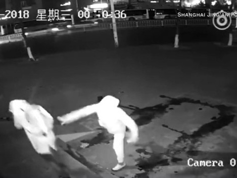 Caught On Video: Would-Be Burglar Knocks Accomplice Out