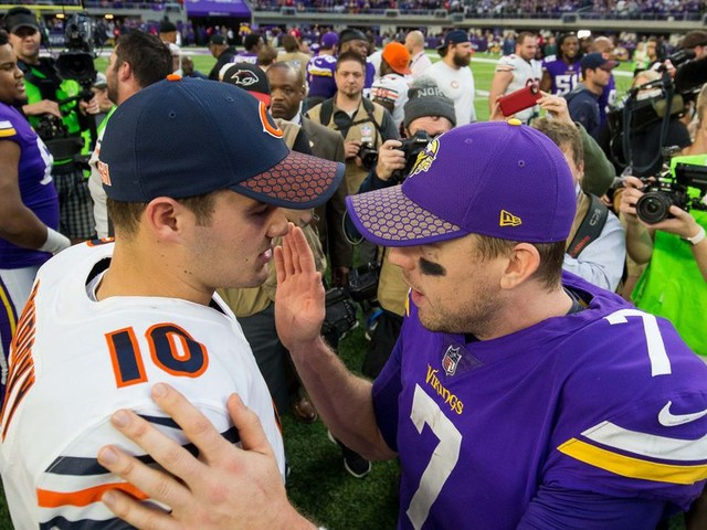 Would you rather stake your NFL offense on Case Keenum or Mitchell Trubisky right now?