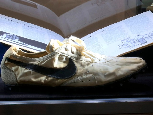 Rare Nike 'Moon Shoe' expected to fetch $160,000. Sotheby's sells sneakers for $850,000