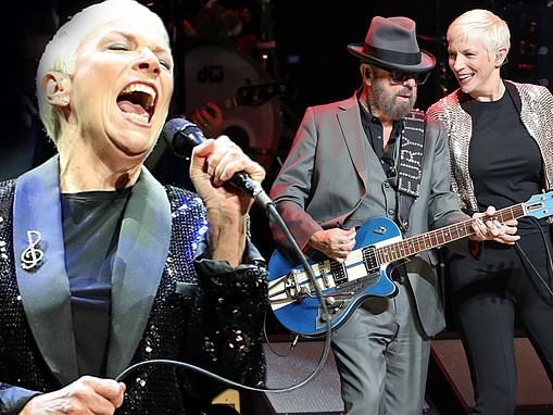 Eurythmics reunite!Annie Lennox andDave Stewart perform together for first time in FIVE YEARS