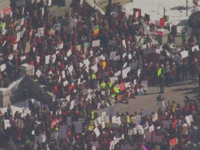 WATCH: Thousands of Denver public school teachers go on strike in fight for higher pay