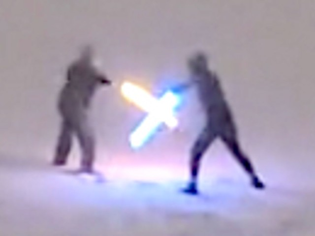 Random Dudes Fighting With Lightsabers In Snow Give Major 'Force Awakens' Vibes