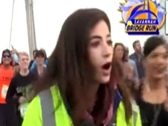 Reporter speaks out after man slaps her butt live on air — and the internet hunts down his identity