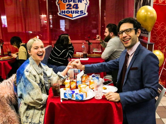 I dined alone at White Castle for Valentine's Day, and saw why it's the most popular event in the country on the holiday