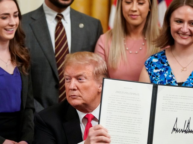 Trump's executive order defending free speech on college campus is spare on details, and the ceremonial signing felt like a partisan photo op