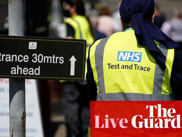 UK coronavirus live: test and trace scheme fails to reach thousands of contacts of people testing positive