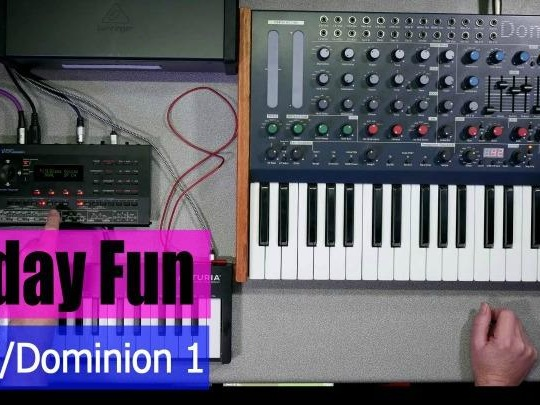 Friday Fun - Roland D-05 And Dominion 1 (video)