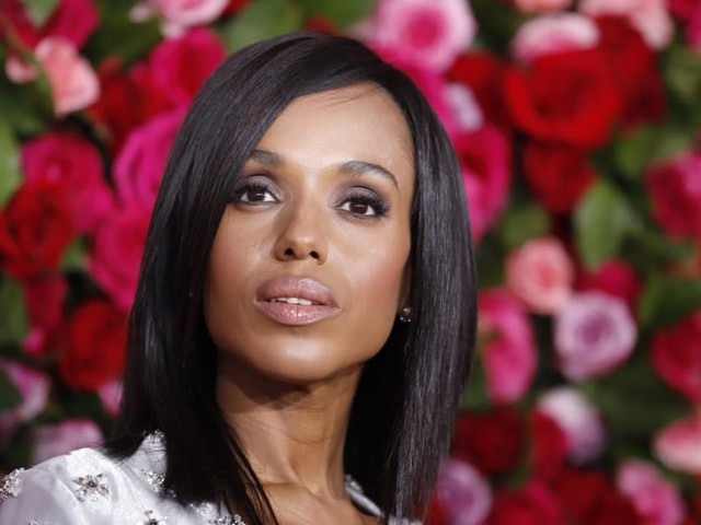 Kerry Washington Joins Cry of ThoseCalling Out CBS News for Omitting Black Reporters on 2020 Election Coverage Tea
