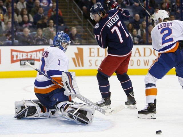 Greiss, Cizikas power Islanders past Blue Jackets 3-0