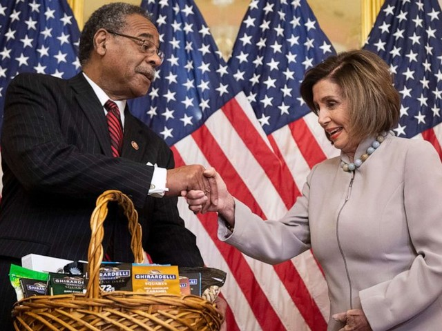 Pelosi pays off Super Bowl bet with pistachios and San Francisco chocolates
