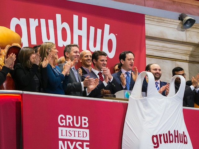 GrubHub surges 38% on report of potential takeover by Uber