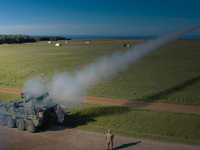 PHOTOS: The US Army's new Strykers blasted drones out of the sky with missiles during first live fire in Europe