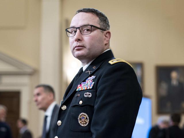 Vindman, who gave key impeachment testimony, 'escorted' from White House