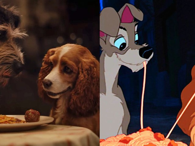 New 'Lady and the Tramp' live-action trailer finally shows the iconic romantic spaghetti scene