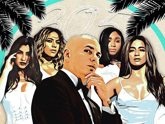 """Pitbull & Fifth Harmony Tease Their """"Por Favor"""" Video On 'TRL'"""