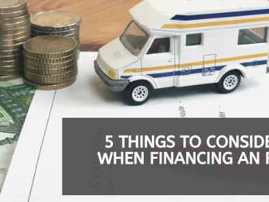 5 Things to Consider When Financing an RV