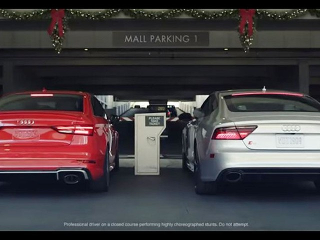 Audi races to the mall