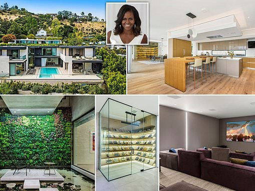 Michelle Obama hires stunning $23 million Hollywood Hills home with its own open-air shark tank