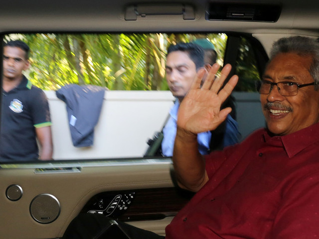 Sri Lanka's former defense chief Rajapaksa becomes country's new leader