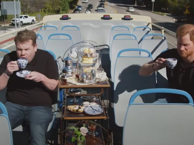 Prince Harry opens up to James Corden about mental health on open-top bus tour of LA