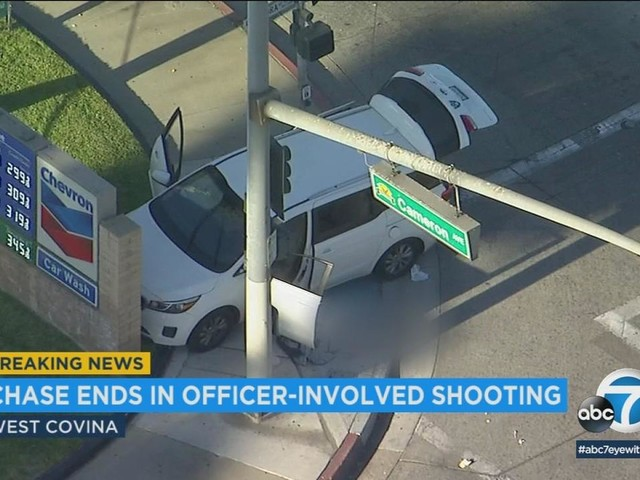 West Covina officer-involved shooting: Burglary suspect in hospitalized unknown condition