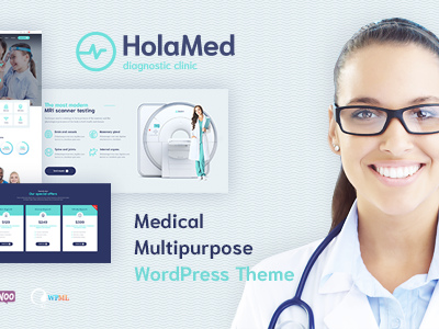 HolaMed - Medical Diagnostic Clinic WordPress Theme (Health & Beauty)