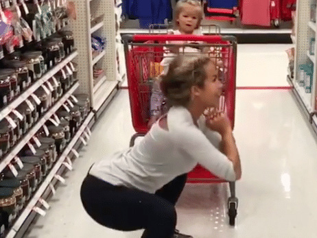 Mom Works Out While Shopping at Target and People Are Seriously Judging Her for It