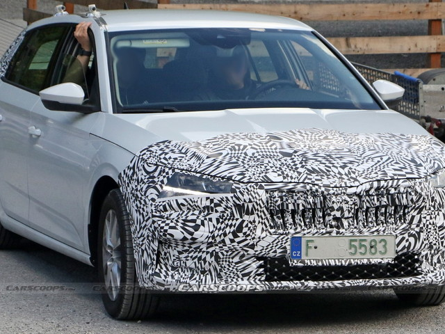 Skoda Scala Compact Hatchback Getting Ready For A Mid-Life Cycle Facelift