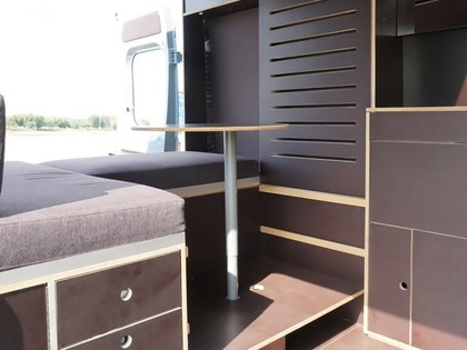 Stealthy, modern van conversion is one designer's mobile home & office (Video)