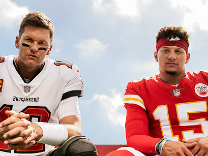 Tom Brady and Patrick Mahomes are both the cover athletes of 'Madden 22'