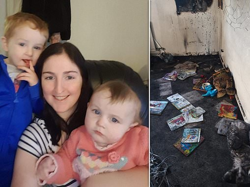 Council officials tell mother-of-two, 23, to 'call back tomorrow' after fire tears through her flat