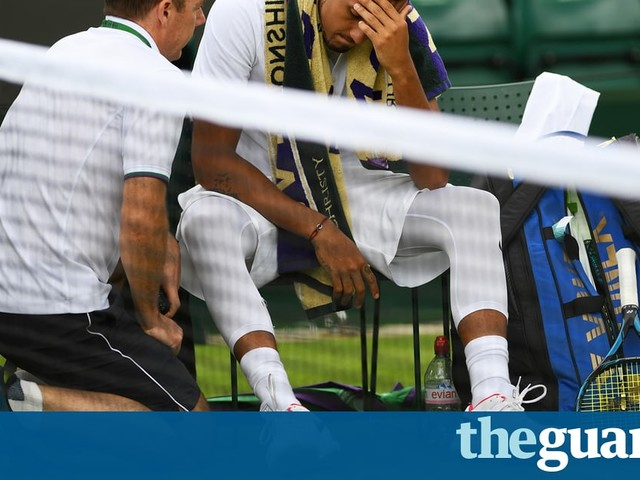 Nick Kyrgios out in Wimbledon first round after being forced to retire
