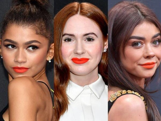 How to Work the People's Choice Awards 2019 Orange-Red Lip Trend IRL