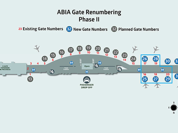 Second Phase of Gate Renumbering Set for August 14-15
