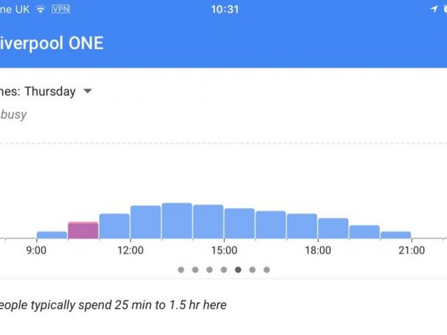 Google Maps iOS Update Adds Live Location Data to 'Popular Times' Feature