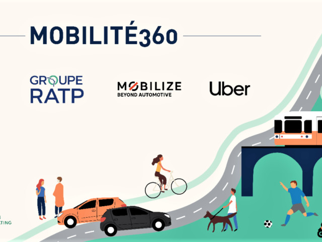 """Uber, Mobilize, RATP & Blablacar Join Forces for Sustainable Mobility by Launching the """"Mobilité360"""" project"""