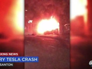 """One Dead As Speeding Tesla """"Crashes And Bursts Into Flames"""" In California Intersection Saturday Night"""