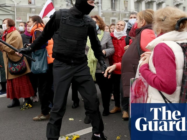 Belarus police will fire on protesters if necessary, says deputy interior minister