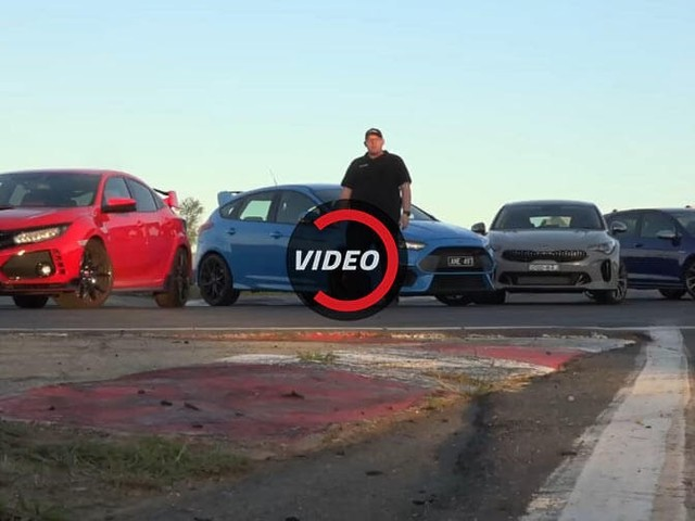 Kia Stinger Vs Civic Type R, Focus RS And Golf R Is An Odd Battle