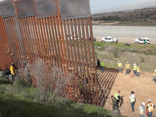 Pentagon says it ran out of money to build a 20-mile stretch of border wall