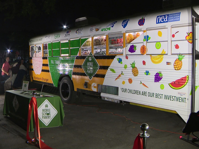 Mobile School Pantry Unveils Refrigerated Bus To Help Feed Broward Students In Need