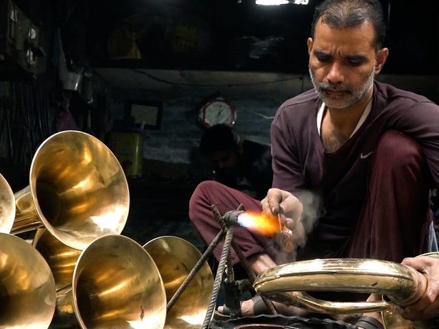 A single neighborhood makes 90% of the brass instruments in India — and the pandemic has put it in jeopardy