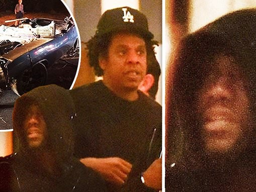 Kevin Hart is seen for FIRST TIME since devastating car crash as he enjoys LA night out with Jay-Z