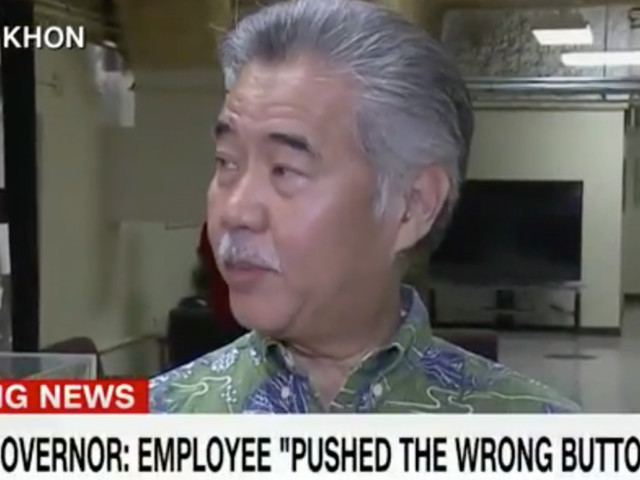 The false Hawaii missile alert was caused by an employee pushing the wrong button, governor says
