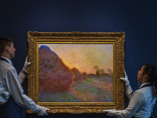 Claude Monet haystack painting fetches $110.7M at NY auction